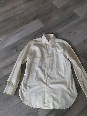 BRIONI Shirt Mens 17 /43  cream- Textured Stripes