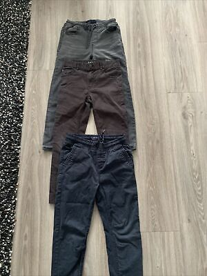 NEXT H&M Boys Bundle Of Jeans X2 Skinny Jean X1 Cargo grey/black/blue Age9years