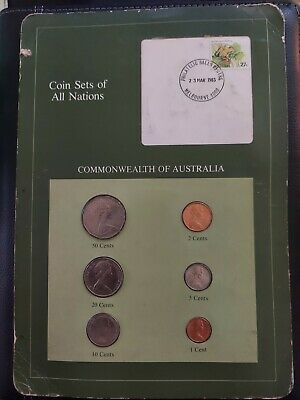 Lot of 3 Australia  Uncirculated Coins -- 1983 - 84