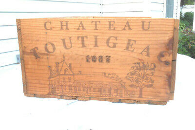 1983 Chateau Toutigeac Wooden Wine Crate
