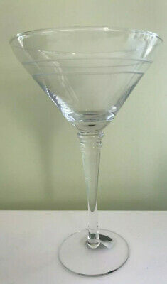 NEW Etched Martini Glasses with 6 Oversize Glasses