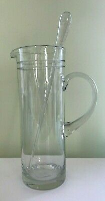 NEW Etched Martini Pitcher with Stirrer