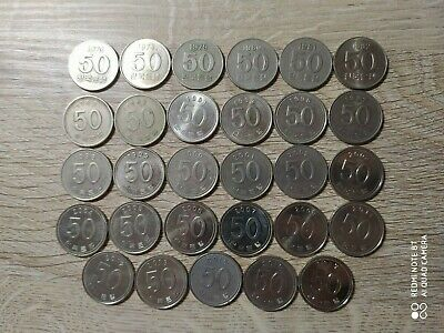 South Korea lot of 29 coins 50 won 1973-2017 All years different