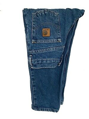 Boy's Carhartt Denim Jeans Trousers Blue Relaxed Fit W25 L21 Age 8 Years