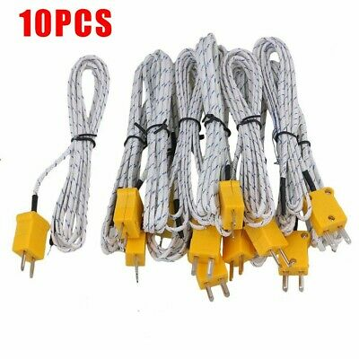 With Connector  10pcs 2 Meter Thermocouple K Type Cable Probe Sensor 180g