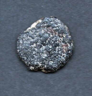 A MEDIEVAL COIN , Unresearched, uncleaned, found in CYPRUS, approx 13mm , 1gm A7