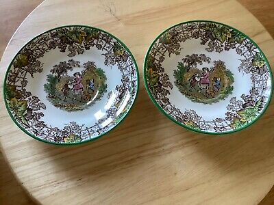Vintage Copeland Spode's Byron, pair of saucers, used excellent condition