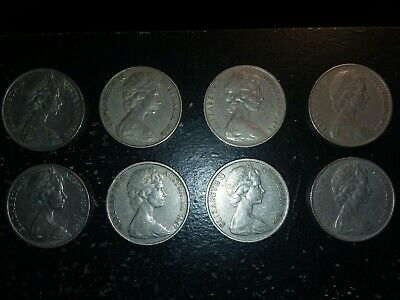 Elizabeth 2 Austalia Coins /lot Of 8