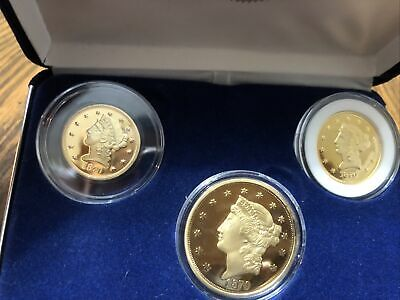 National Collectors Mint 1870 Set Coin Gold Tone  United States  Copy