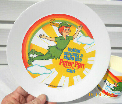 1983 Deka Peter Pan Plate and Mug by Swift & Company