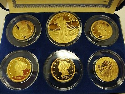 National collectors mint, Five coins $5 Proof Mint Mark Tribute Set one $20 Mint
