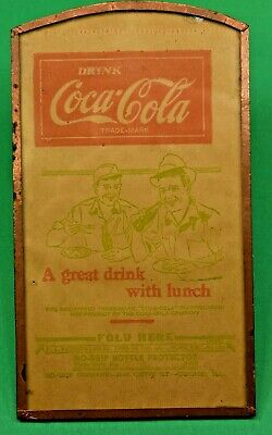 Vintage Copper Framed Original Coca-Cola No-Drip Bottle Protector