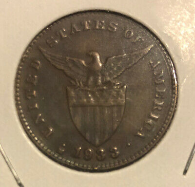1933 M US Administration Philippines 1 CENTAVO Collectible Coin~KM#163