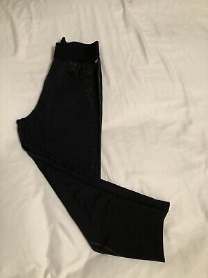 Black cropped leggings Small