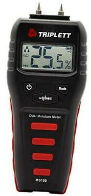 Pin/Pinless Non-Invasive Moisture Meter for Wood and Building Materials with Au