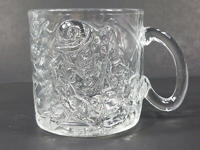 McDonald's Batman Forever The Riddler clear 3D glass collectible mug 1995 DC
