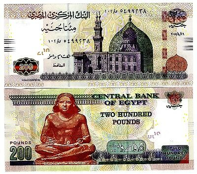 Egypt 2015 Uncirculated 200 Pounds Note