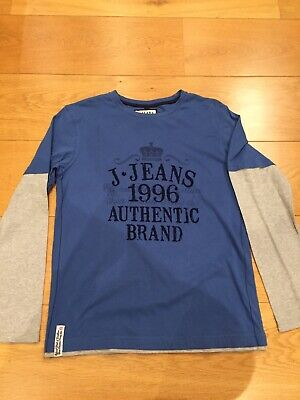 J Jeans boys 11-12 years long sleeved branded blue & grey top