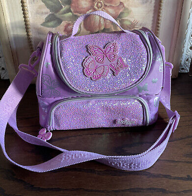 smiggle lunch box girls lavender butterflies lunch box school pre owned
