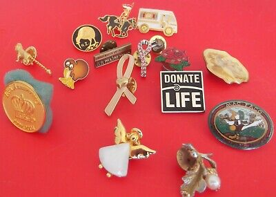 Lot of assorted mix metal tags/tags pin vintage/new