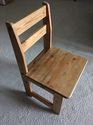 Vintage Wooden Child's Chair/ plant stand