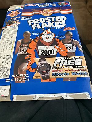 Maurice Greene and Marian Joes Frosted Flakes box- flat
