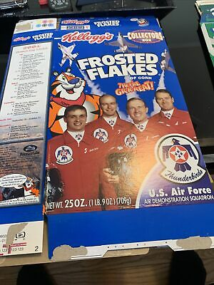 Kelloggs Collectors Cereal Box 2002, Frosted Flakes, Thunderbirds US Air Force