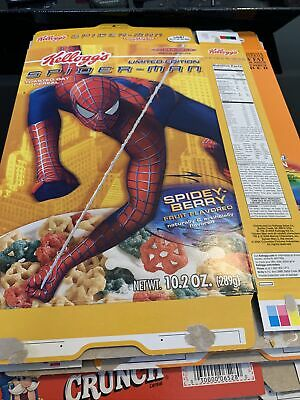 (Marvel Spider-Man Limited Edition Kelloggs Cereal Boxe spider- Berry. Flat