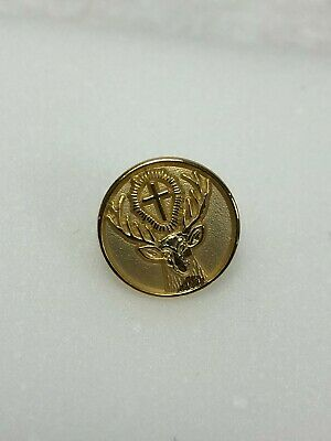 Vintage Late 1990s Jagermeister Badge Button Lapel Pin NOS