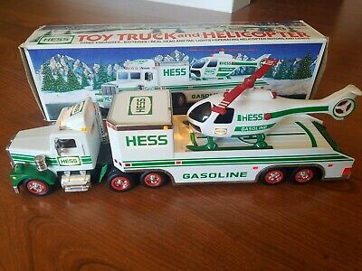 1995 HESS Simi Truck Lights Motion Helicopter Box Vintage Collectible Gasoline