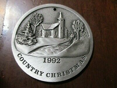 "John Deere 1992 Pewter ""Country Christmas"" Ornament"