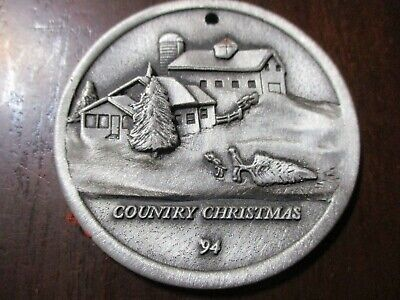 "John Deere 1994 Pewter ""Country Christmas"" Ornament"