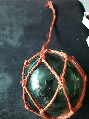 Vintage Glass Fishing Float Green buoy