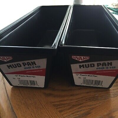 """12"""" Advance 12P Plastic Dry Wall Mud Pan with Steel Edge USA MADE (Lot Of 2)"""