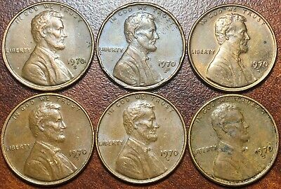 1970 S Lot Maybe Small Date High 7 LQQK!!!! 6 Memorial Coins