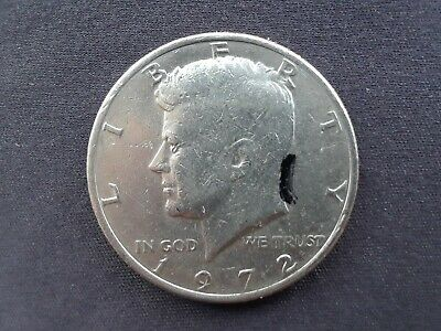 United States 50 cents coin - possible edge mint error? 1972 Kennedy half.