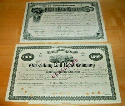 Two Old Colony Rail Road Co. Bonds
