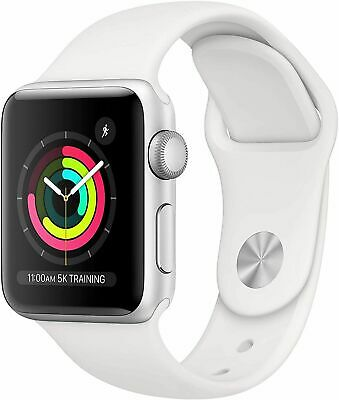 New Apple Watch Series 3 GPS MTF22LL/A 42mm Silver Aluminum White Sport Band
