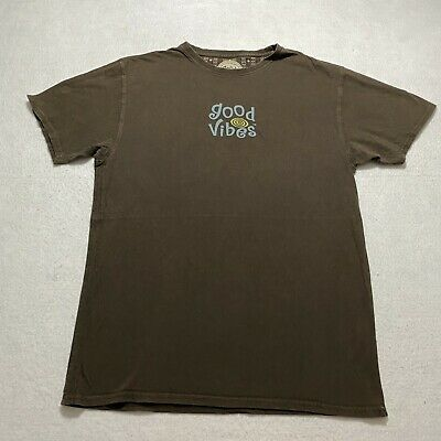 Life is Good Stout Brown Blues Festival Poster Guitar T-Shirt Good Vibes Tee NWT