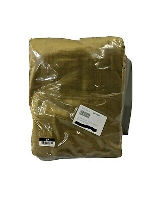 """West Elm Cotton Luster Velvet Curtain Unlined Individual Pewter 48/""""x96/"""" NEW"""