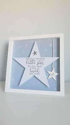 Twinkle Twinkle Little Star 3 Baby Pictures Hand Foot Print Collage Frame 29cm