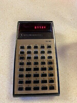 Vintage Two Texas Instruments Calculators TI-30 and TI-1000 1970/'s  Working