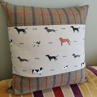 Cushion Cover in Sophie Allport Speedy Dogs 14 16 18 20 22 24