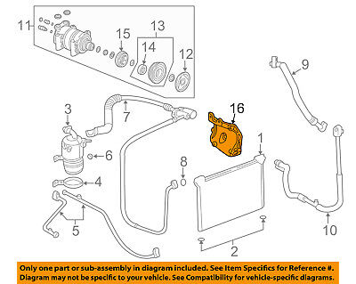 OE Replacement CHEVROLET MALIBU A//C Condenser Partslink Number GM3030313