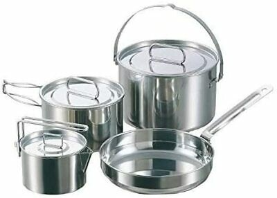 CAPTAIN STAG camping pot UH-4202 stainless steel angle type noodles cooker 1.3L