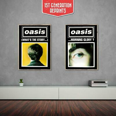 Oasis poster - (What's the Story) Morning Glory? Black duo set (1st Generation R