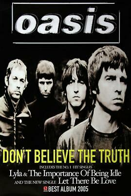 Oasis poster - Don't believe the truth - Original Large 60