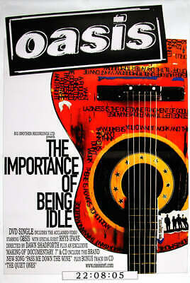Oasis poster - The Importance Of Being Idle - Original Large 60