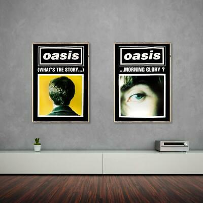 Oasis poster - (What's the Story) Morning Glory? Black duo set. Very Rare Origin