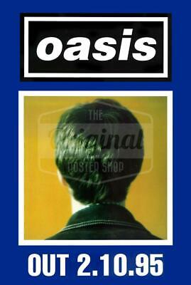 Oasis poster - (What's the Story) Morning Glory? Noel (Blue) Very Rare Original